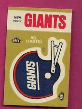 1982 NEW YORK GIANTS   STICKER SCHEDULE NRMT-MT  (INV# 8302)