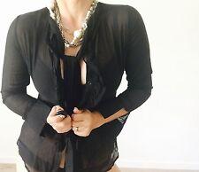 LAURA ASHLEY DESIGNER TAILORED COTYON Silk Blend WORK SHIRT SZ 6