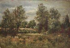 CHARLES BOIZARD- Impressionist-Original Signed Oil-Rural Landscape