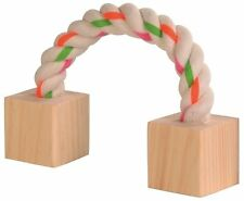 """Playing Rope with 2 Wooden Blocks Small Animal Hamster Rat Rabbit Toy 20cm (8"""")"""