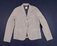 Gap Seersucker Striped Academy Blazer Jacket Size 10