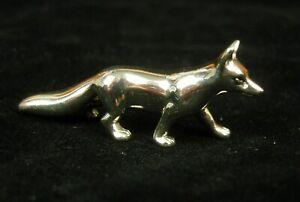 Silver Miniature Fox. H/M Sheffield 2003