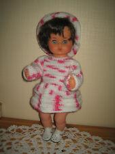 Puppe mit gehäkelter Kleidung ca. 40cm Baby-Spielpuppe