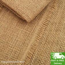 2m Natural Raw Hessian Jute Burlap Fabric Superior Quality Material 100cm wide