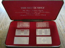 1973 The Silver Mint The Silver Nations Ingots Set BEAUTIFUL SILVER SET F0113
