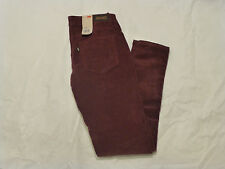 NWT JUNIORS LEVIS LEGGING CORDUROY PANTS $46 WINE/PLUM PURPLE 11997-0132