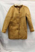 Aleksander Mens Leather Sherpa? Coat Size 40 Made In Norway Vintage Jacket 1677