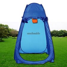 Portable Pop Up Tent Bathroom Toilet Changing Shower Room Camping Solid Blue