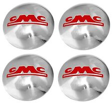 1947 1948 1949 1950 1951 1952 1953 GMC TRUCK 1/2 TON HUBCAP SET STAINLESS/RED