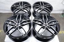 """18"""" Wheels Lexus IS300 Is350 Rx350 Honda Accord Civic Cr-V Black Rims 5x114.3"""