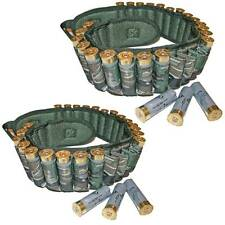 2 Anglo Arms 12 Bore Shotgun Cartridge Belt Holder in Camo Hunting Shooting Bags