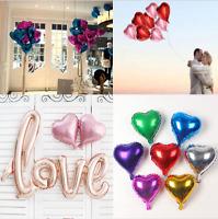 Lot 5PCs Love Heart Foil Helium Balloons Wedding Party Birthday Decor Romantic