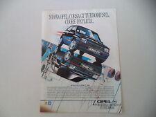 advertising Pubblicità 1988 OPEL CORSA GT D GTD