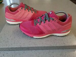 Adidas Supernova Sequence Boost ladies running trainers in pink - size 6