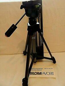 BILORA FAVORIT 810 Tripod 53.5cm 137.5cm (Max) 1100g  Boxed Black /Grey  (JH)
