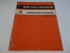 Allis Chalmers 1350 Series Wing Field Cultivator Operators Manual