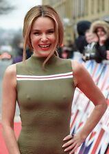 AMANDA HOLDEN -  NIPPLE DRESS - SEXY A4 SIZE GLOSSY PHOTO