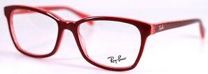Ray-Ban RB5362 5777 Fuchsia Pink Transparent Square Eyeglasses Frames 54-17-140
