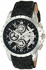 Salvatore Marra Men's Watches Chronograph Quartz Leather Belt SM13119D-SSBK/B