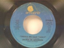 "JACKIE DeSHANNON ""THINGS WE SAID TODAY / WAY ABOVE THE ANGELS"" 45 MINT"