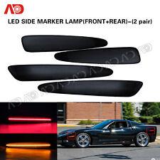 For Chevy Corvette C6 2005-2013 Smoked Lens LED Side Marker Lamp Red Amber 4PCS