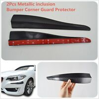 2X Carbon Fiber Look Shark Fin Style Car Moulding Bumper Corner Guard Protector