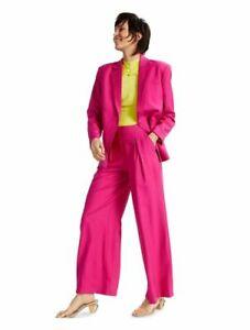 INC Womens Suit XL Oversized Blazer Hot Pink Wide Leg Pants Pleats Trendy NWT