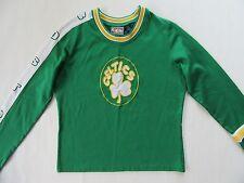 Boston Celtics Kid's Knit Shirt LARGE 10 yrs Lucky Green Irish Shamrock L/S Top