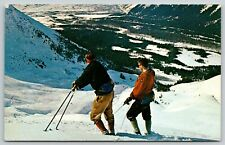 POSTER WINTER SPORT GIRDWOOD ALASKA SLEDDING SNOWY HILL VINTAGE REPRO FREE S//H
