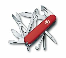 New Victorinox Swiss Army 91mm Knife RED DELUXE TINKER