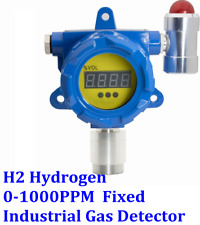 H2 Hydrogen Fixed Gas Detector Display Alarm Industrial Monitor 0-1000PPM