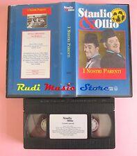 film VHS STANLIO & OLLIO I NOSTRI PARENTI VideoRai 1936 (F33) no dvd