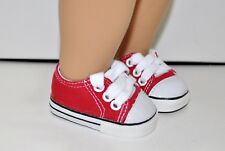 "American Girl Dolls Our Generation Gotz 18"" Dolls Clothes Red Sneakers Runners"