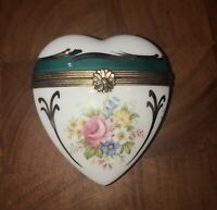 Peint Main Limoges Trinket-Heart Box