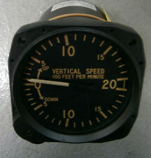 """Overhauled United PN#7000 VSI Vertical Speed Indicator, 3 1/8"""", 0-2000 fpm, TSO"""