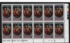 Christmas Island 1970 Christmas 5 Cent Block of 12 MNH