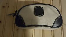 CALLAWAY Zippered Accessories Pouch White with black trim