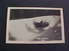 Winter Sports Bobsledge old Postcard Chamonix Course de Bobsleigh