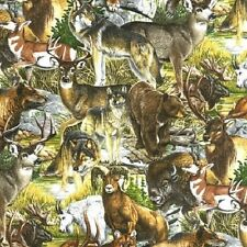 1 yard Bringing Nature Home Al Agnew Robert Kaufman 10372-169 Earth Fabric