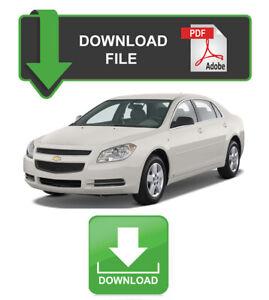 Service Repair Manuals For Chevrolet Malibu For Sale Ebay