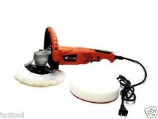 "7"" VARIABLE 7-SPEED ELECTRIC CAR POLISHER/BUFFER & SANDER w/ BONNET PAD"