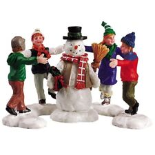 New Lemax Figurines Ring Around The Snowman Set of 3 # 52112 Polyresin 2018