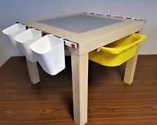 Lego Spieltisch, Lego Platte,  Aufbewahrung Box, Holz Optik NEU