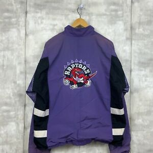 Toronto Raptors Vintage Champion Jacket Size Large Purple Nba 90s