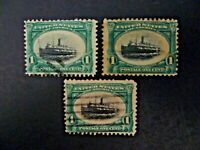 USA Lot of 3 1901 $.01 #294 Pan-American Exposition Issue Used - See Description