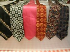 "Lot of 6 VINTAGE Fat Wide Neck Ties 3.75"" - 5"" (FW4)"