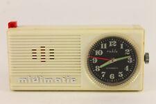 Vintage RUHLA MIDIMATIC German Miniature Radio Shape Travel Wind Up Alarm Clock