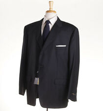 NWT $2295 CORNELIANI Solid Black Super 150s Wool Suit US 52 R (Eu 62) Modern Fit