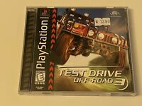 TEST DRIVE OFF-ROAD 3 - PS1 PlayStation 1 PSX GAME 💯 COMPLETE MINT BLACK LABEL