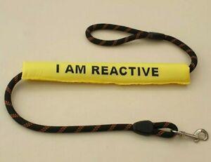 Dog Lead Sleeve yellow I am reactive
